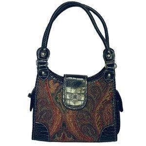 Handbags - Women's Satchel Bag Double Strap Vegan Leather